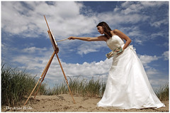 -The Artist Bride- (www.hansvink.nl) Tags: sea woman beach girl strand painting bride model artist hans zee zomer zon noordwijk the vink peopleenjoyingnature