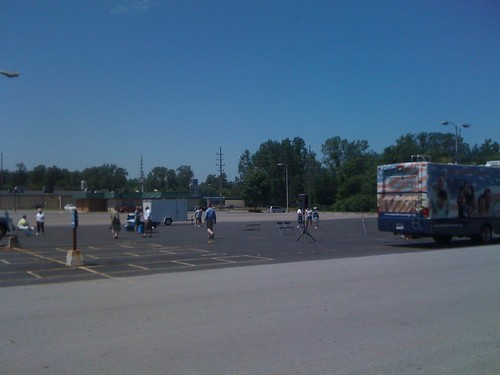 NOM's parking lot rally in Lima, Ohio