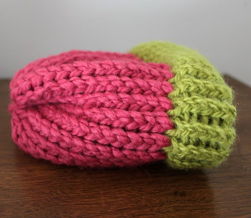 pink and green acorn cap by you.