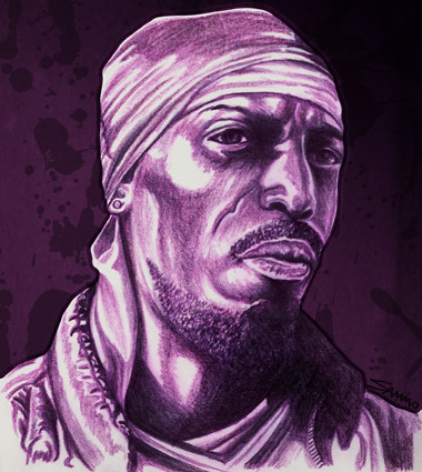 380 Omar Little Drawing