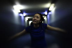 blue (recep-bg) Tags: light portrait girl face night lensbaby japanese bokeh  composer   f20  canoneos5dmarkii recepbg