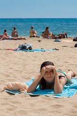 Beach: the sun