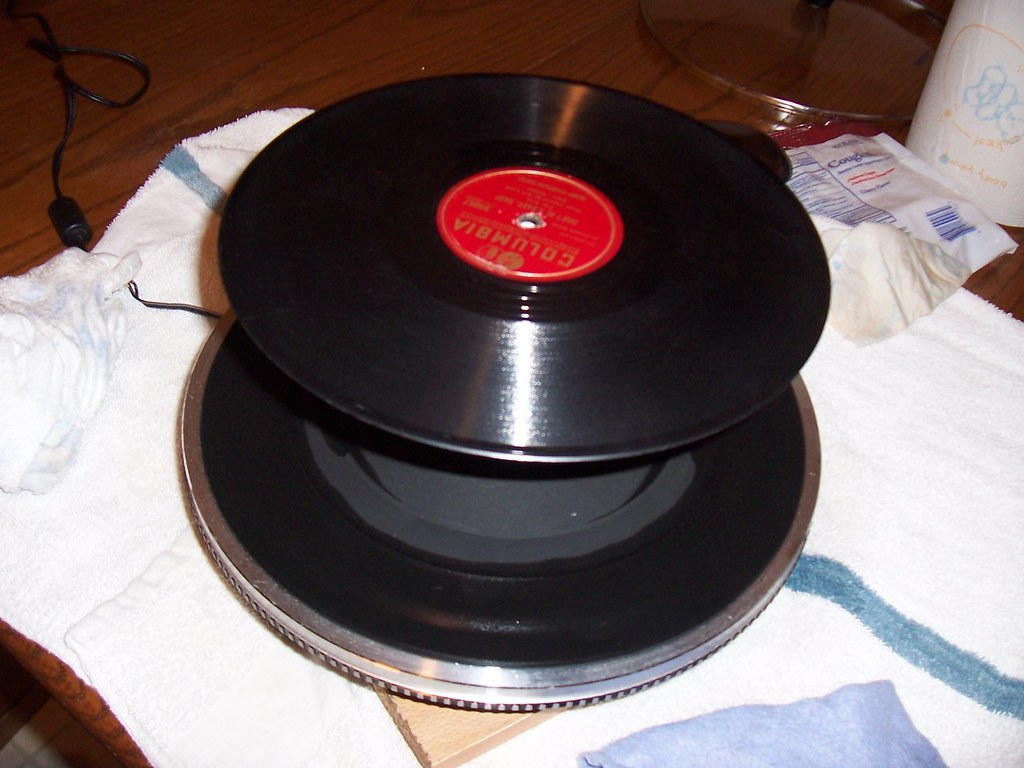 Old Turntable = New Record Cleaning Surface