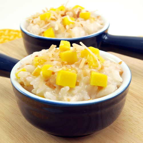 Coconut Mango Rice Pudding - Evil Shenanigans