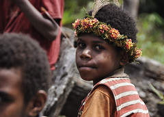 Flower Child, Papua (nickkuchmak) Tags: travel mountain trekking trek indonesia outdoors highlands southeastasia hiking traditional dani tribal adventure missionary backpacking tribes backcountry tribe papua lani rtw cannibal indigenous newguinea aroundtheworld westpapua yali honai irianjaya wamena papuan angguruk theworldonatoilet onatoilet