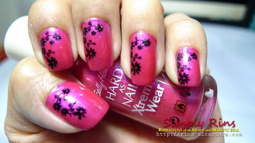Nail Art Hot Magenta 02