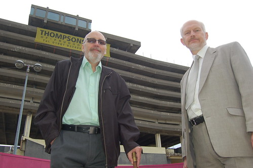 Dave Fawcett and Frank HIndle car park Jul 10 2