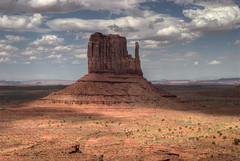 Monument Valley (wili_hybrid) Tags: blue arizona sky usa brown mountains beautiful yellow rock clouds utah sand unitedstates desert roadtrip traveling monumentvalley hdr