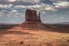 Monument Valley (wili_hybrid) Tags: blue arizona sky usa brown mountains beautiful yellow rock clouds utah sand unitedstates desert roadtrip traveling monumentvalley hdr