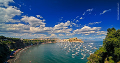 Procida, Spiaggia di Chiaia (Illusiontom) Tags: sea sky panorama beach clouds landscape island nikon nuvole mare wideangle tokina explore cielo grandangolo procida spiaggia isola filtro 1116 chiaia illusiontom d300s polarizzante