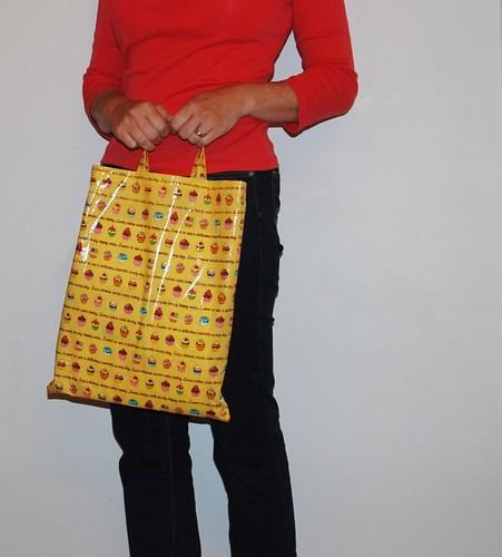 laminated kniting bag