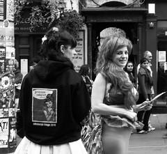 Fringe 2010 - Princess Cabaret 02 (byronv2) Tags: street girls blackandwhite bw woman hot sexy girl monochrome festival scotland blackwhite women breasts edinburgh tits boobs candid fringe bikini voyeur royalmile cleavage jugs performers performer oldtown edinburghfestival revealing 2010 knockers downblouse edinburghfestivalfringe sideboob edinburghfavourites