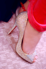 Thats what they call 'Glamorous' (Unique'Queen) Tags: orange shoe juicy high crystal christian heels couture studs louboutin