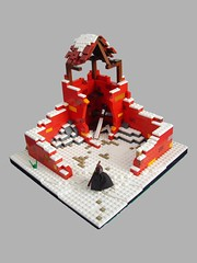 CC 32x32 red (Hrry) Tags: red snow castle classic lego roman ruin 32x32