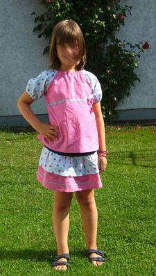 Blouse-Skirt-Set for Girls
