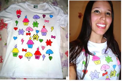 Camiseta que fiz para o Moda Reciclada  do Terra