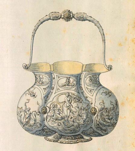 016-Cuenco con asa-Entwürfe für Prunkgefäße in Silber mit Gold-BSB Cod.icon.  199 -1560–1565- Erasmus Hornick