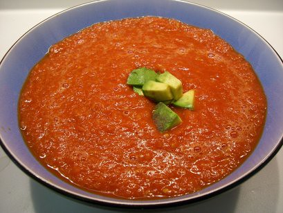 Roasted Tomato and Red Pepper Gazpacho