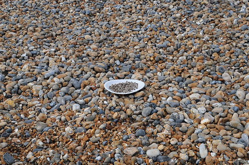 plate of blackeyed peas on beach_4211 web