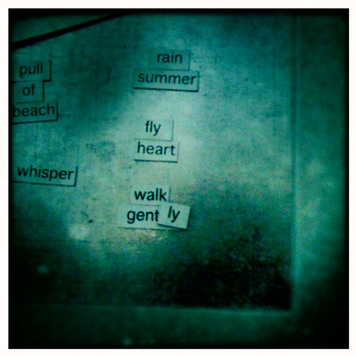 This summer's magnetic poetry