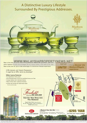 Madison @ Regalia luxury condominiums for sale in KL