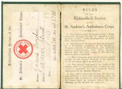 papa's St Andrew's Ambulance Corps pass 02