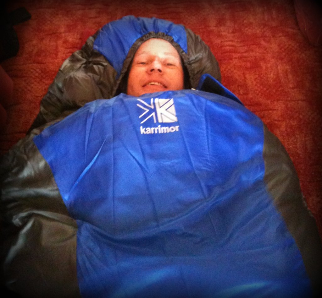 (41/365) Snug as a bug in a .... sleeping bag