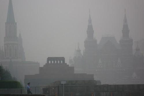 Mausoleum Lenins bei Smog