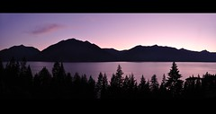 Canada (Surrealplaces) Tags: sunset mountain lake silhouette kootenay