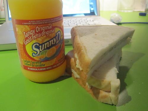 Sunny D, chicken sandwich - $5.65
