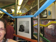 How to hang art on a train