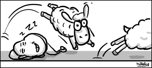 comics strips - Tired sheeps