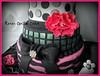 Fashion Cake (Kara's Custom Cakes) Tags: pink white black flower mannequin sexandthecity fabric 18thbirthday fashionista bows zebrastripes fantasyflower gumpasteshoe fashionmannequin fashioncake fondantpearls sexandthecitycake gumpastestiletto