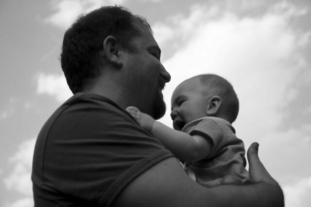 Con papá... en las nubes