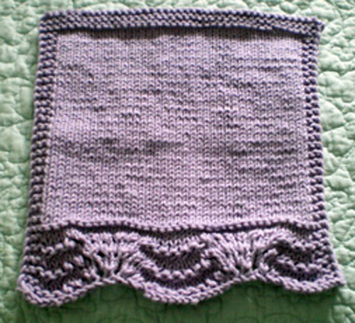 lacy facecloth finis