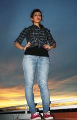 Raquel on TOP (RMeneses) Tags: ladies sunset sky atardecer posing cielo posando damas
