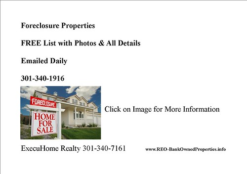 Foreclosure List-MD Home by Toby Talk