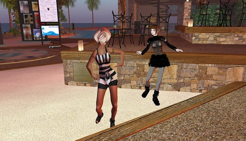 raftwet jewell and liz harley at key west island event for the follow