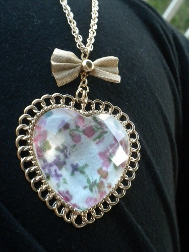 floral, hearts, and bows