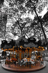 enter (nosha) Tags: park new york city nyc trees light sky urban horse usa ny beautiful beauty magic august carousel bryant magical bryantpark 2010 lightroom rotate nosha nikoncorporation nikond300 140secatf45 1116mmf28
