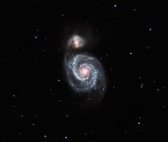 The Whirlpool Galaxy (M51) reprofiled (kappacygni) Tags: