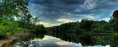River Panorama (garretthaviland) Tags: panorama newyork reflection nature water canon river upstate hdr rebelxti garretthaviland
