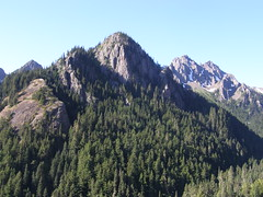 Early views across valley on trail to Marmot Pass.