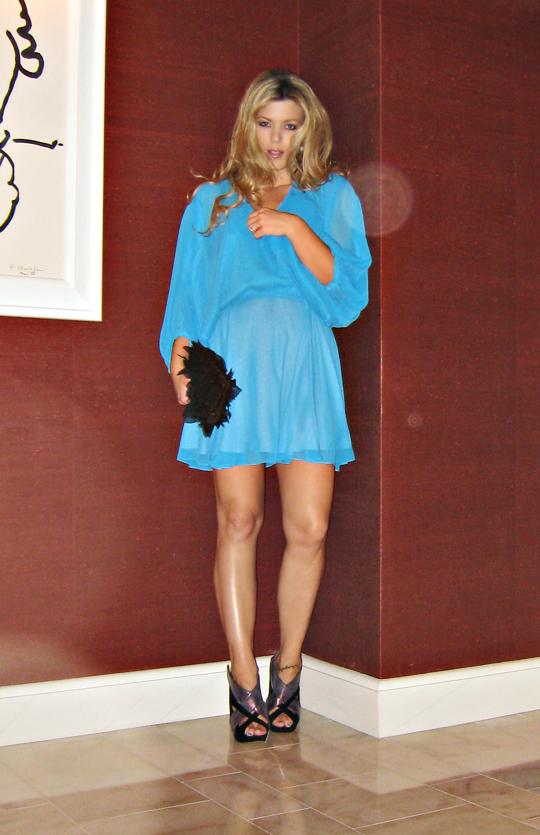 Nicholas Kirkwood shoes+mara hoffman dress+petal clutch