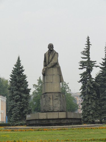 From flickr.com: Petrozavodsk Lenin Statue {MID-191409}