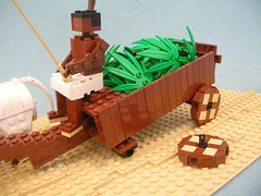 Mesopotamian Ox Cart 3000BC Breakdown (Lego Monster) Tags: wagon lego vehicle oxcart ancientmesopotamia