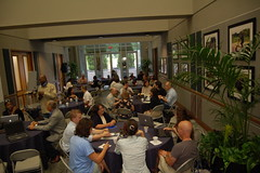 The assembled group meets up for the Unconference