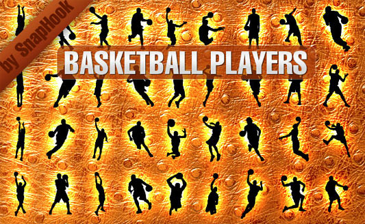 Click en la imagen para descarga 36 Siluetas en formato vector - Baloncesto