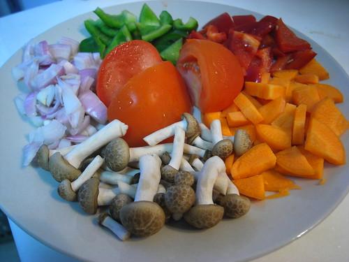Prep: Stir fried mushrooms & vegetables
