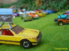 Mustang day I (tonywheels) Tags: ford car miniature rusty hotwheels mustang diecast